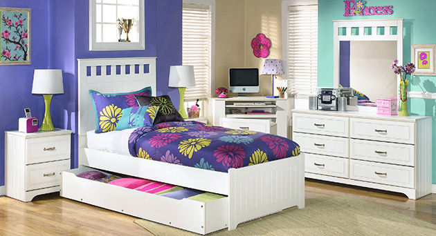 Lulu Twin Panel Bed, Dresser U0026 Mirror
